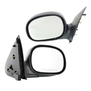 Chrome Folding Manual Side View Mirrors Left Right Pair Set For F150 F250 Truck