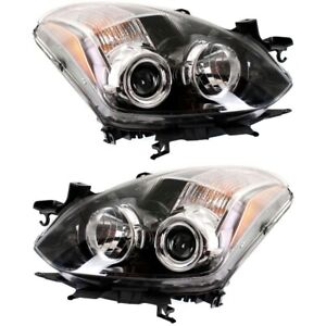 Halogen Headlight Set Left And Right For 2010 2013 Nissan Altima Coupe