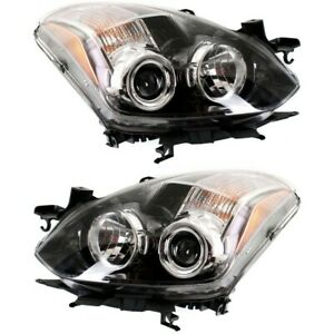 Headlight Set For 2010 2013 Nissan Altima Coupe Driver Passenger Side W Bulb