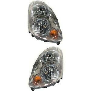 Headlight Set For 2003 2004 Infiniti G35 Sedan Left And Right With Bulb 2pc
