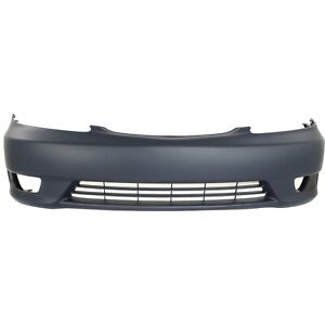 Front Bumper Cover For 2005 2006 Toyota Camry W Fog Lamp Holes Primed