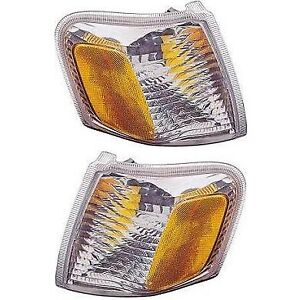 Corner Turn Signal Side Marker Parking Light Lamp Pair Set For 01 05 Explorer