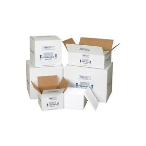 insulated Shipping Containers 13 X 13 X 12 1 2 White 1 case