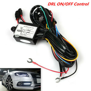Led Daytime Running Light Drl Relay Harness Automatic On Off Control Switch Kit