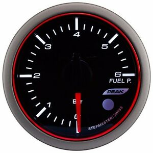 Taiwan Made 52mm 3colors Led Electrical Fuel Pressure Gauge W Warning peak Bar