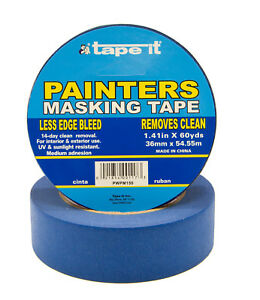 24 Rls 1 41 X 60 Yards Blue Painters Masking Tape Pwpm150