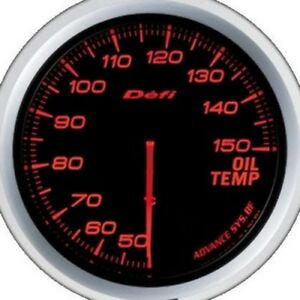 Defi Advance Gauge Bf 60 Oil Temp Red
