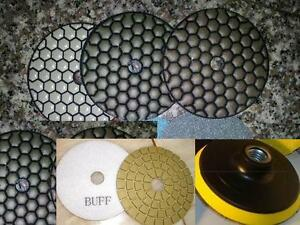 Wet Dry Diamond Polishing Pads 4 Inch Set For Granite Concrete Stone Aa Quality
