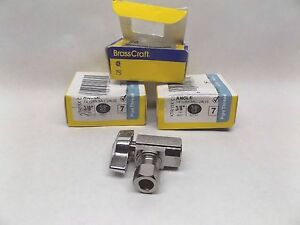 3 Brasscraft Ktr15x C1 Ball Valve 1 4 Turn 3 8 Fip X 3 8 Comp Angle Stop
