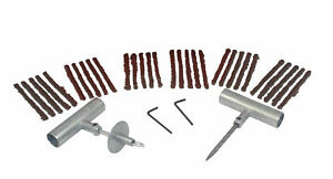 Abn Car Motorcycle Tire Repair Kit Tire Plug 34 Piece Tubeless Tire Patch Kit