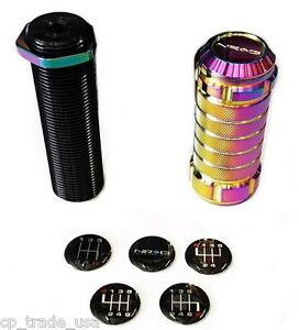 Nrg Stealth Style Adjustable Shift Shifter Knob M10 X 1 25 Neo Chrome Sk 500mc 1