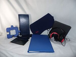 Desk Set Leed Headphones Leeman Card Holder Leather Notepad Photo Frame