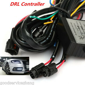 Automatic Car Led Daytime Running Light Relay Harness Drl Control On Off Dimmer