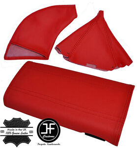Red Leather Armrest Cover Shift E Brake Boots For Mazda Miata Mx5 1989 1997