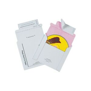 tyvek Lined Cd Mailers 5 1 8 x5 White 100 case