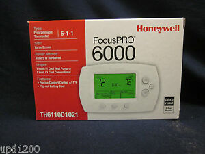 Honeywell Focuspro 6000 5 1 1 Programmable Thermostat th6110d1021