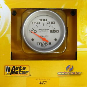 Auto Meter 4457 Ultra Lite Pro Comp Electric Transmission Temp Gauge 100 250 F