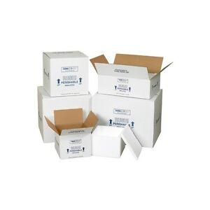 insulated Shipping Containers 16 3 4 x16 3 4 x15 White 1 case