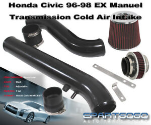 96 98 Ex Civic Honda Black Cold Air Intake System With 2 75 Red Bypass Valve