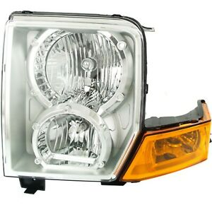 Headlight For 2006 2008 2009 2010 Jeep Commander Left With Bulb