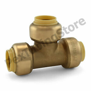 10 1 2 Sharkbite Style push fit Push To Connect Lead free Brass Tees