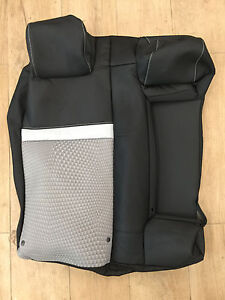 2012 Toyota Camry Factory Original Seat Cover Rear Upper 60 black gray Cloth