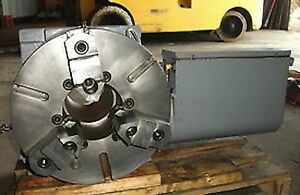 Troyke 15 Cnc Rotary Table Full 4th Axis Indexer Haas Vf Big Bore Thru Hole