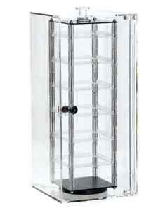 For Sale Earring Security Acrylic Revolving Case Holds 48 Jewelry 2 Cards