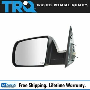 Mirror Power Heated Blind Spot Smooth Black Driver Side Left Lh For Tundra