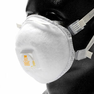 3m 8214 N95 Particulate Respirator Dust Mask W Valve Box Of 10 Masks New