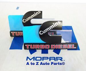 New Dodge Ram 2500 3500 Black Cummins Turbo Diesel Emblems Nameplates oem