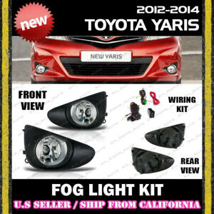 complete Fog Light Kit For 12 13 14 Toyota Yaris Hatch Switch Wiring Cover