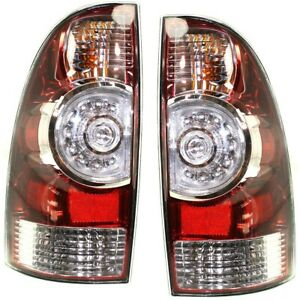 Set Of 2 Halogen led Tail Light For 2009 2015 Toyota Tacoma Lh Rh W Bulb s