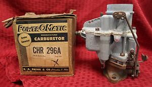 Vintage Rebuilt Ball Ball Chr296a 1 Barrel Carburetor 1938 1941 Plymouth