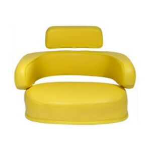Vinyl Yellow Seat 3 piece Set For John Deere 3020 4000 4010 4020 4230 4240 4430
