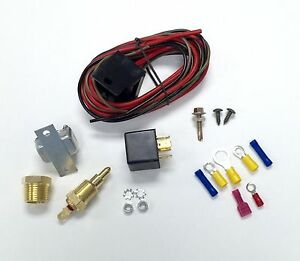 Hot Rod Electric Cooling Fan Wiring Install Kit 185 170 Thermostat 30 Amp Relay