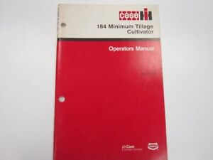 International 184 Minimum Tillage Cultivator Operator s Manual