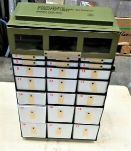 22 Drawer Small Parts Storage Cabinet Military Medical Instrument Chest