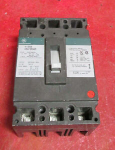 General Electric 15 Amp Circuit Breaker Thed136015 600 Volt 3 Phase