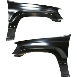 Fender For 99 2004 Jeep Grand Cherokee Set Of 2 Front Lh Rh Primed Steel Capa