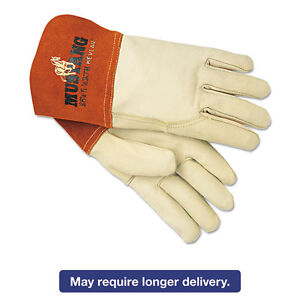 Memphis Mustang Mig tig Leather Welding Gloves White russet Large 12 Pairs