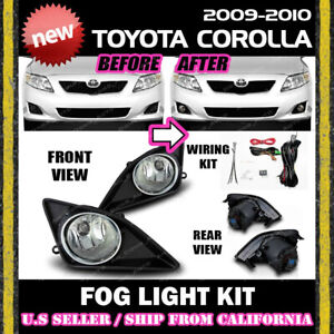 complete Fog Light Kit For Toyota 09 10 Corolla Switch Wiring Cover