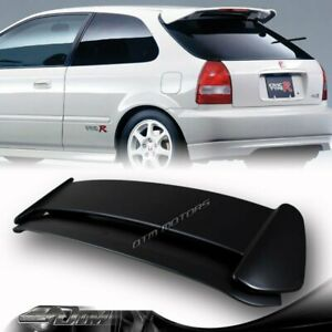 Abs Black Type r Style Rear Spoiler Wing W Led For 96 00 Honda Civic Hatchback