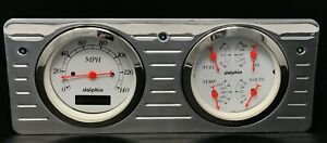 1940 1941 1942 1943 1944 1945 1946 1947 Ford Truck Gauge Cluster White