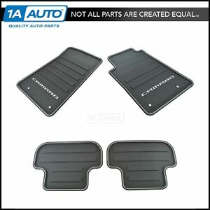 Oem All Weather Rubber Floor Mat Set Of 4 Front Rear Black For Check Camaro