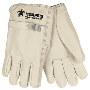 Mcr Safety 3220 Road Hustler Grain Cowhide Leather Drivers Gloves W pull Strap