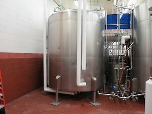3000 Gallon Stainless Steel Jacketed Mixing Tank W Agitator 1 Hp Motor