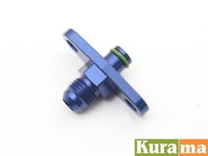 An6 Fuel Rail Delivery Regulator Adaptor Fit Toyota Corolla Ae86 4a Ge Blue
