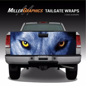 Wolf Eyes Truck Tailgate Vinyl Graphic Decal Wrap