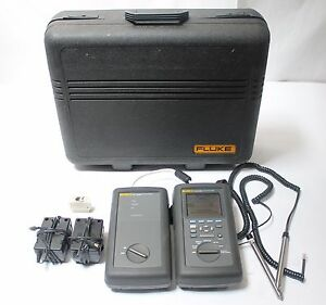 Fluke Networks Dsp 2000 Cable Analyzer W Smart Remote Cat5 Lan Tester